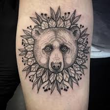 beautiful bear head tattoo creativefan