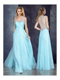 cheap light blue bridesmaid dresses cheap v neck applique light blue prom dress with see through back