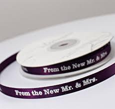 favor ribbons mr mrs wedding ribbon wedding favor ribbons