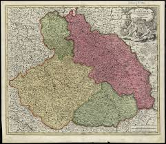 Bohemia Map Topographic Maps Of Eastern Europe