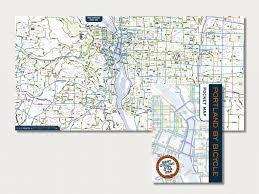 Portland Maps by Portland By Bike Map Wilborndesign