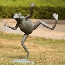 large outdoor frog statues wayfair
