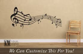 musical staff with notes wavey wall decor vinyl decal letteing for musical staff with notes wavey wall decor vinyl decal letteing for music rooms and musicians b2467