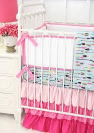 Girl Nursery Bedding Set by Tribal Girl In Pink U0026 Aqua Baby Bedding Caden Lane