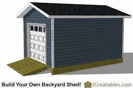 Overhead Doors For Sheds 12x16 Shed Plans With Garage Door Icreatables