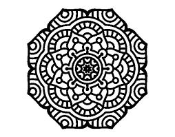 Mandala Conceptual Flower Coloring Page Coloringcrew Com Mandala Flowers Coloring Pages