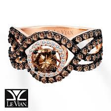 kay jewelers class rings jared levian chocolate diamonds 1 1 2 cts tw ring 14k strawberry