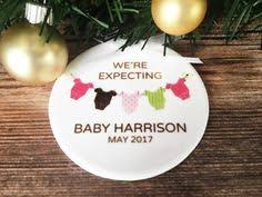 expecting ornament pregnancy announcement by weloveaparty on etsy