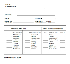 Construction Sheets Template Work Log Template 5 Free Pdf Doc