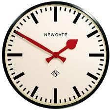 newgate putney clock black round metal clock