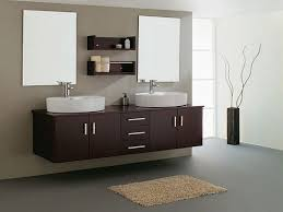 bathroom decoration using furry light brown bathroom area rug