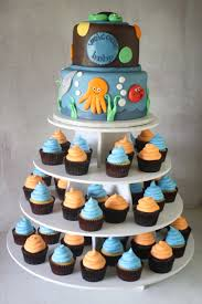 under the sea baby shower cake u0026 cupcake tower