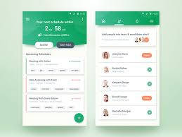 user interface design showcase of colorful mobile user interface designs