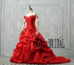 red wedding dress plus size off the shoulder wedding dress plus