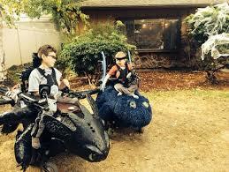 Halloween Costume Motorcycle Dad Creates Incredible Halloween Costumes Children