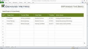 Gap Analysis Template Excel Gap Analysis Template Basic