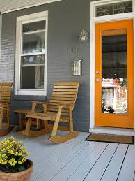 door accent colors for greenish gray 5 front porches to fawn over inspiration roundup orange door
