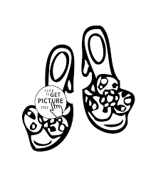 girls shoes coloring page printable free for girls coloing