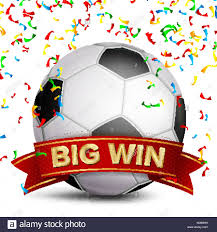 football ribbon football award vector ribbon big sport win banner stock