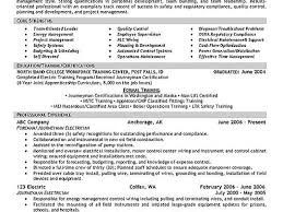 Resume For Manufacturing Electrical Control Panel Assembly Technician Resumes Samples