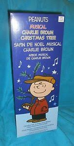 musical brown christmas tree peanuts musical brown christmas tree 24 includes