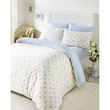 bedmaker molly blue floral brushed cotton flannelette duvet set