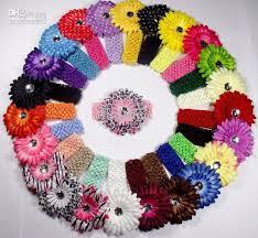 crochet hair bands baby s girl s kids crochet headband flower waffle string headbands