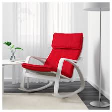 Comfortable Rocking Chairs Poäng Rocking Chair White Ransta Red Ikea