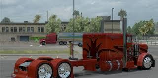 flat top kenworth trucks for sale peterbilt 389 orange show truck mod mod ats mod american truck