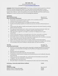 Child Care Worker Resume Sample by Community Health Resume Free Resume Example And Writing Download