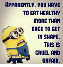 Eating Healthy Meme - apparently you have to eat healthy more than once to get in shape