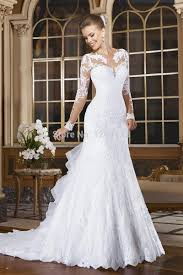 Wedding Dress Elegant Turmec Elegant White Lace Long Sleeve Dresses