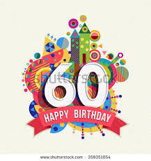 happy birthday sixty 60 year stock vector 359351054