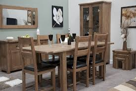 rustic oak dining table tilson solid rustic oak furniture extending dining table and four