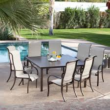 patio brown teak patio furniture with white cushion ideas and