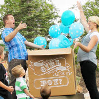 balloons in a box gender reveal 10 ideas for throwing a gender reveal party babble