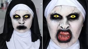 Halloween Devil Eye Makeup The Conjuring 2 Valak Nun Sfx Halloween Makeup Tutorial Youtube