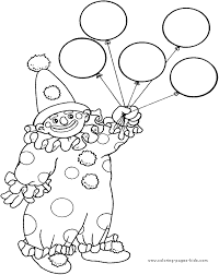 coloring activity carnival party pinterest circus clown