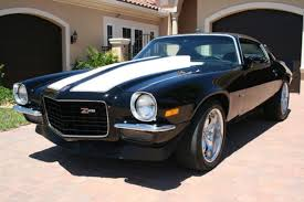 1973 camaro ss chevrolet camaro coupe 1973 black with white z 28 stripes for sale