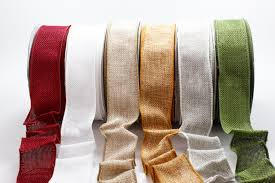 wholesale burlap ribbon 1 5 inch faux burlap wired ribbon may arts wholesale ribbon