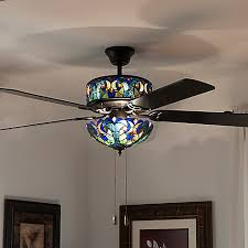 Stained Glass Ceiling Fan Light Shades Ceiling Fan Stained Glass Maverickanimation