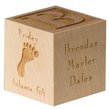 wooden personalized gifts custom baby block custom new baby gift custom newborn baby