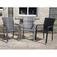 Garden Sofa Dining Set Of 2 Rattan Stackable Contract Commercial Garden Furniture Dining