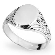 signet ring men sterling silver men s signet ring harry fay jewellery