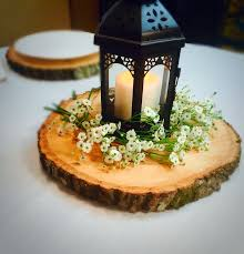 wood centerpieces 12 set of 10 wood slices wedding centerpieces wood