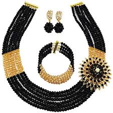 african beads necklace images Nigerian wedding african beads jewelry set crystal jpg
