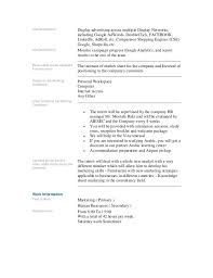 hr intern job description sample objective for internship resume