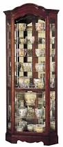 Discount Corner Curio Cabinet Howard Miller 680 249 Jamestown Corner Curio Cabinet The Clock Depot