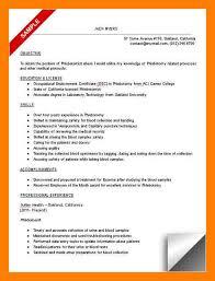 7 phlebotomy resume samples self introduce