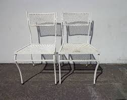 Wrought Iron Mesh Patio Furniture by Metal Mesh Chairs Etsy